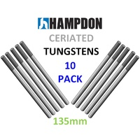 3.2mm,  2% Ceriated TIG Tungsten electrodes- Pack of 10 - Shorter 135mm