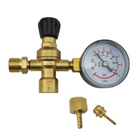 Disposable Gas Bottle Regulator -  Argon / CO2 - 10mm
