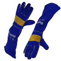 Weldclass PROMAX Blue XC Welders Gloves - Full Arm Protection - 680mm