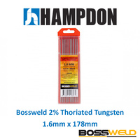 Bossweld 2% Thoriated Tungsten 1.6mm x 178mm (Pkt 10) - 900311