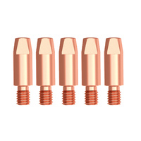 MIG Contact Tips - KEMPPI Style - 0.6 mm - M6 - 5 pack- Parweld LONG LIFE