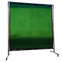 Green Welding Curtain / Screen and frame Combo - 1.8m x 1.8