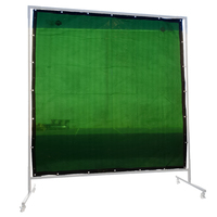 Green Welding Screen / Curtain -  1.8m x 1.8m - Industrial Qualiity
