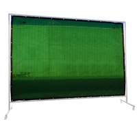 Green Welding Screen / Curtain -  1.8m x 3.4m - Industrial Qualiity