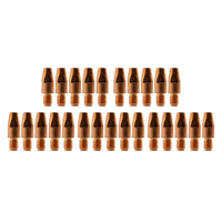 MIG Contact Tips for ALUMINIUM - 1.0mm Binzel Style- 25 pack - M8 x 10mm x 1.0mm