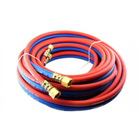 50 meter Oxy Acetylene Twin Hose with LP fittings. Trade Quality  50m