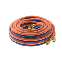 50 Meter Oxy LPG Twin Hose with LP fittings -Trade Quality- 50m - Oxygen
