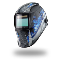4 SENSOR Weldclass Promax 350 Fire Metal Automatic Welding Helmet