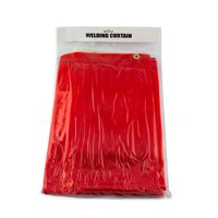 Red Welding Screen / Curtain - 1.8m x 5.5m