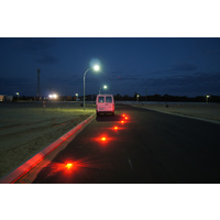 Road Star Portable Warning Lights - Amber LED - 6 Pack - Battery