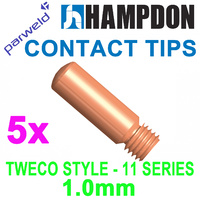 TWECO #1 Style MIG Contact Tips - 1.0 mm - 5 Each 1140