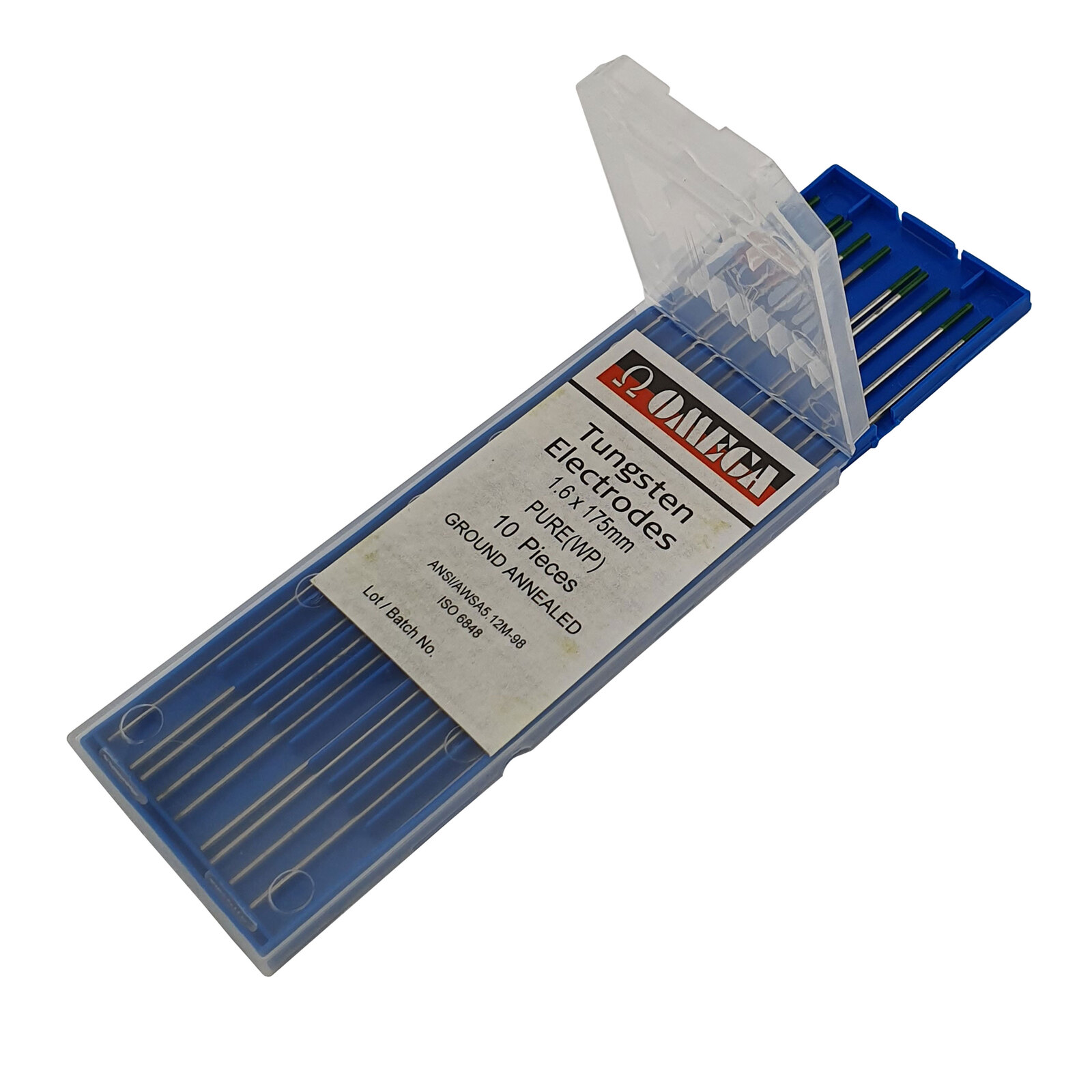 Green Tip 10 Pack 1.6mm PURE TIG 100/% Tungsten Electrodes 10 Each