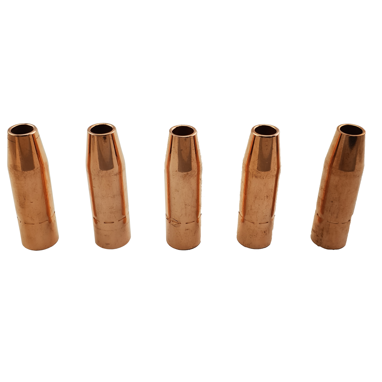 TWECO #2 Style MIG Gas Nozzle / Shroud 13mm - 5 Pack