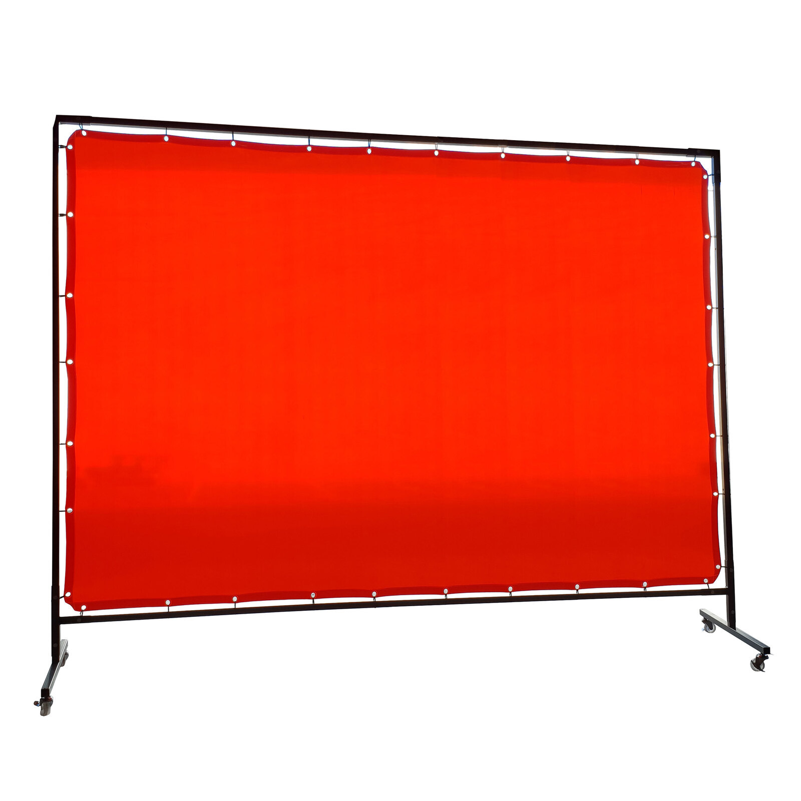 1.8 x 3.4m Red Welding Curtain / Screen and frame Combo