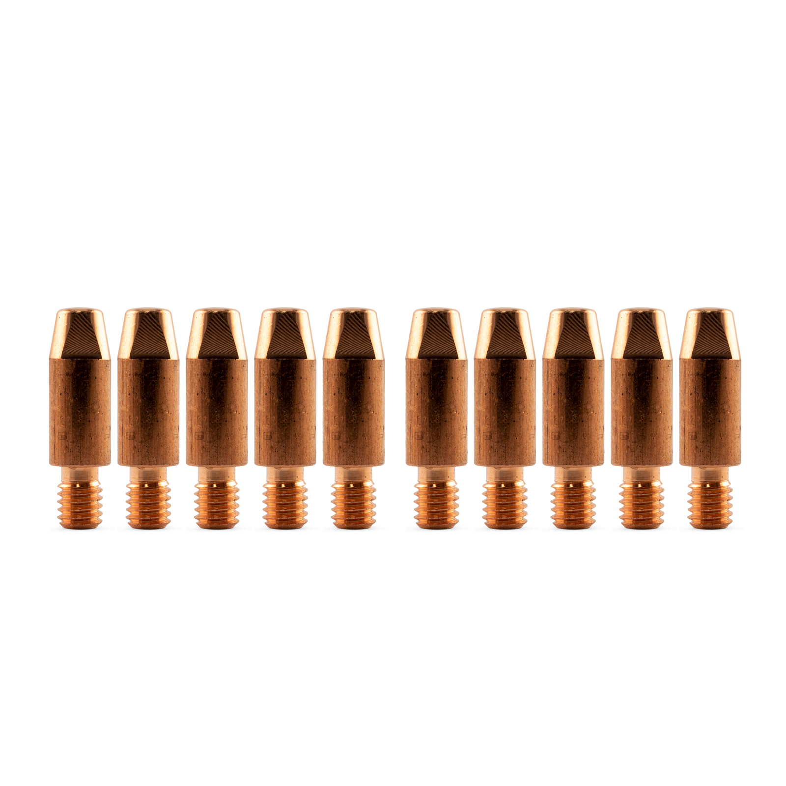 Binzel Style MIG Contact Tips 0.6mm - 10 pack - M6 x 8mm x 0.6mm