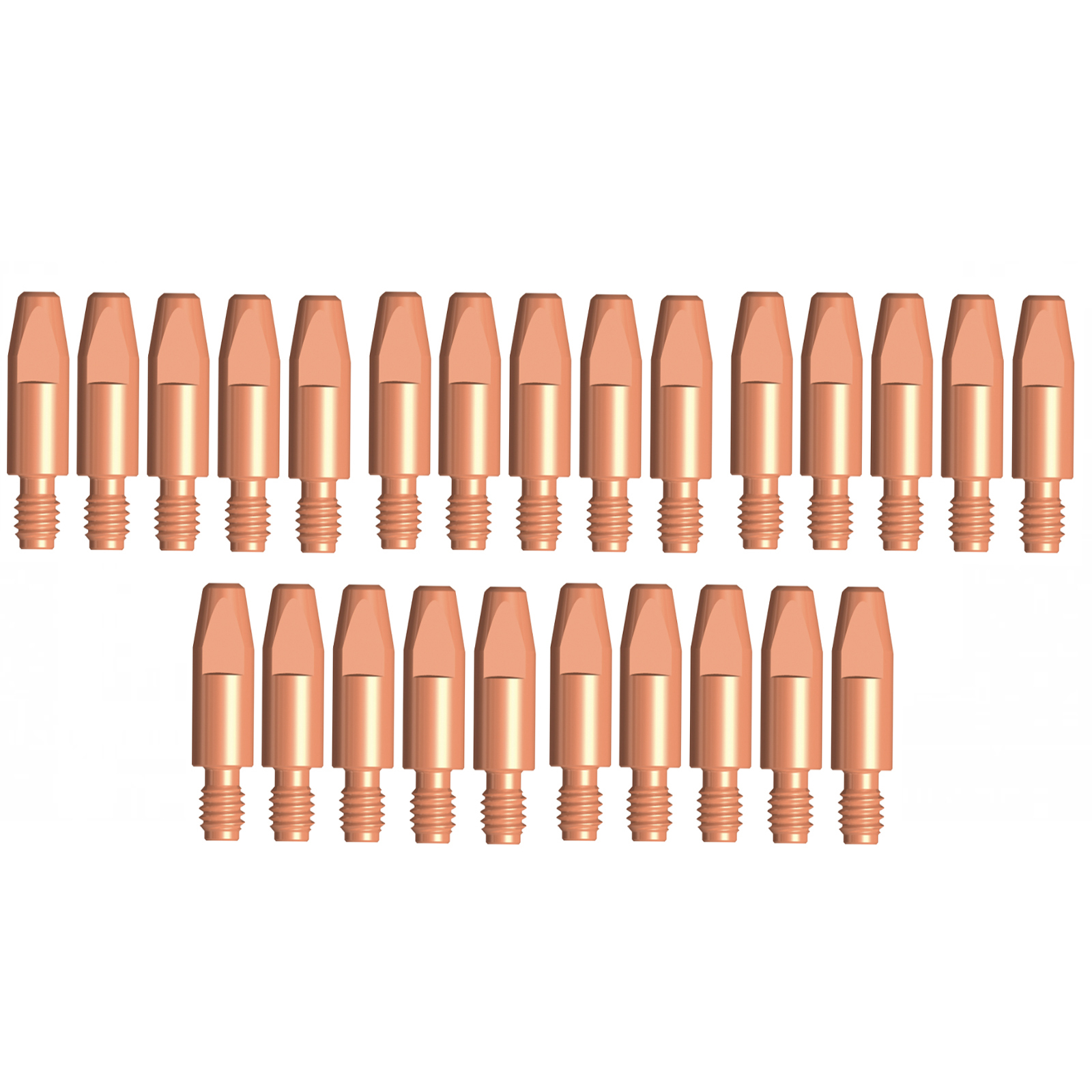 Binzel Style MIG Contact Tips for ALUMINIUM - 2.4mm - 25 pack - M8 x 10mm x 2.4mm