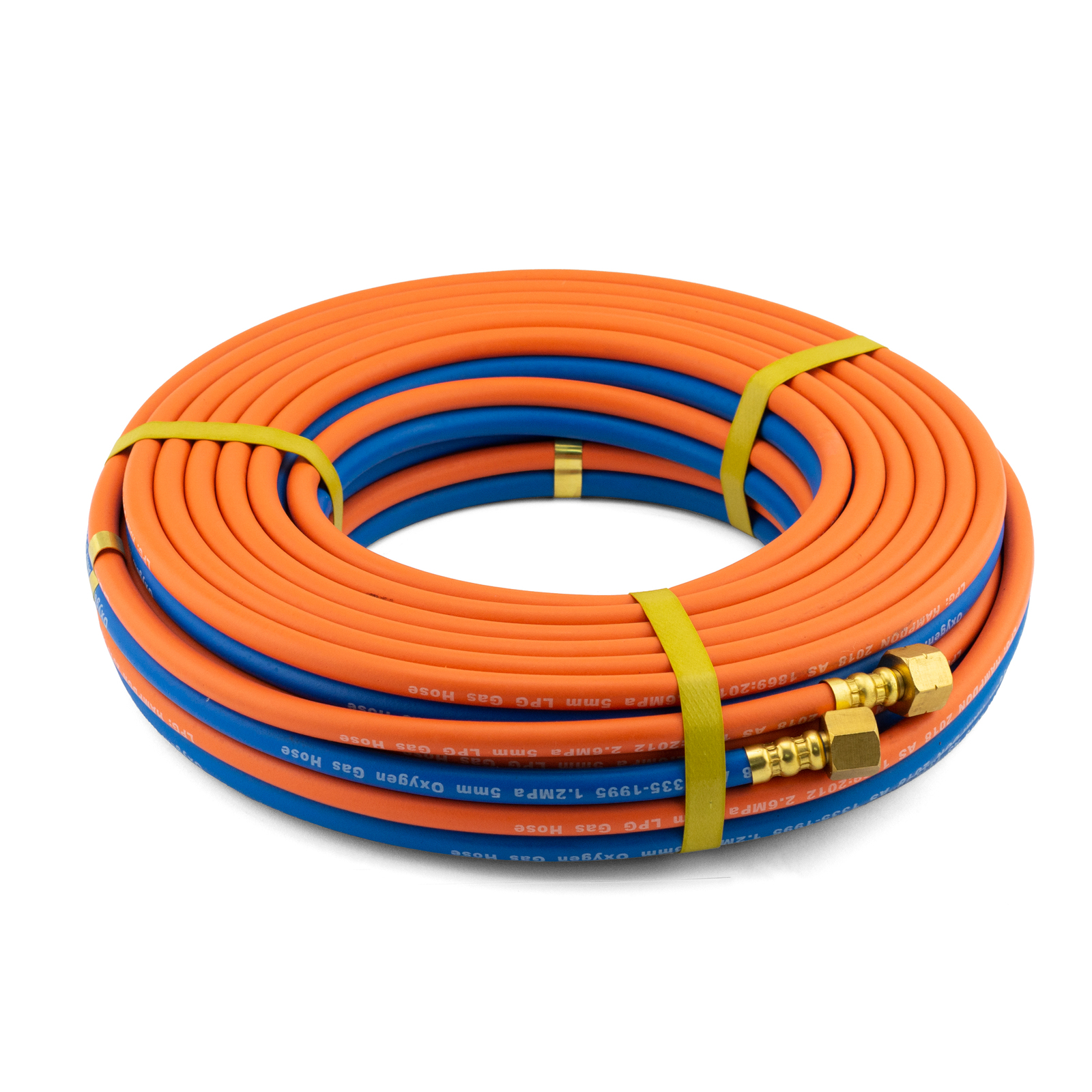 5 meter 10mm High Flow OxyLPG Twin Hose with fittings Industrial