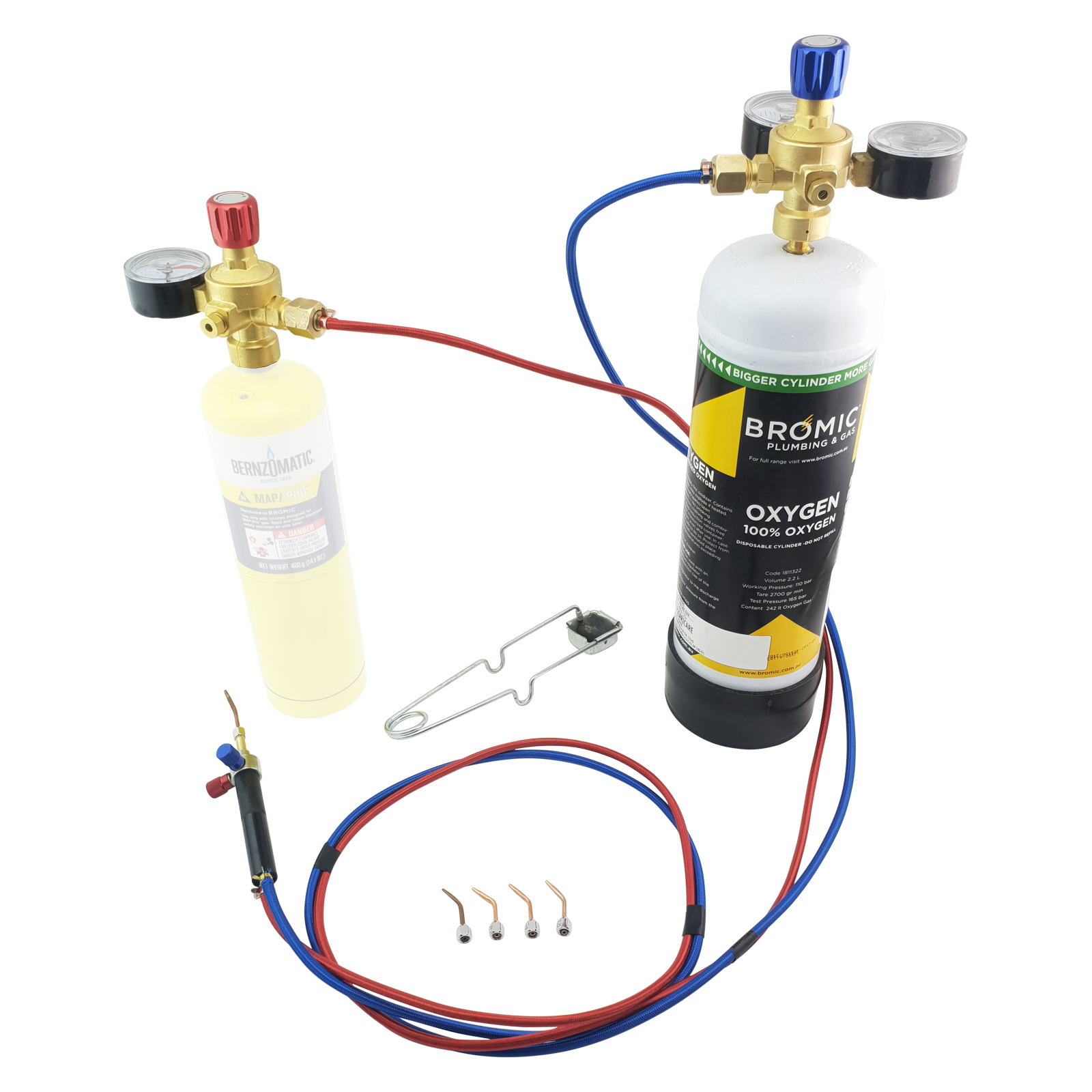 Micro Torch Kit with regulators for Welding Brazing Oxy Mapp