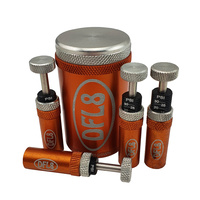 DFL8 Automatic Tyre Deflators - Orange - Set & Forget - 5 to 35PSI - Set of 4