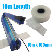 10m of Heat Seal Shrink Poly Tubing 100mm x 50um for Heat Sealers - 10 Meters