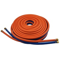 15m Harris Oxy / LPG 10mm Twin Hose with Fittings & Inspection Tag