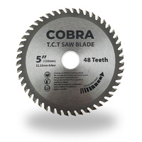 "COBRA 5"" / 125mm Circular Aluminium Cutting Saw Blade Disc - 1 Each"