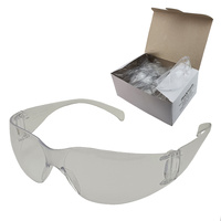 Industrial Safety Glasses - Maxisafe - 12 Pairs - Clear Lens
