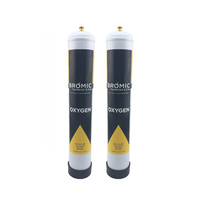 2 x 1.56 litre Disposable Oxygen Gas Bottle - 12mm Thread 400300