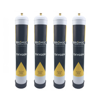 4 x Bromic 1.56 litre Disposable Oxygen Gas Bottle - 12mm Thread 400300