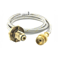 Bromic Gas Hose Mapp CGA600 to POL Cylinder Fitting Adaptor
