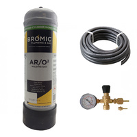 Bromic Stainshield 98% Argon | 2% Oxygen Disposable Combo Kit