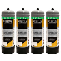 4 x Bromic Nitrogen Mix Food Grade Cylinder 2.2L Value Pack