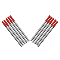 2.4mm 2% Thoriated TIG Tungsten Electrodes 10 Each - Short 55mm
