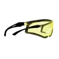 Positive Seal Safety Glasses - Slingshot - Black with Amber Anti Fog Lens