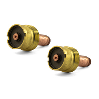 1.6mm - 2 PACK -  TIG Gas Lens Collet Body LARGE DIAMETER - WP-17 | 18 | 26