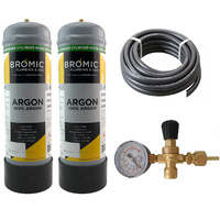 Disposable ARGON Gas Bottle 2.2 Litre - 2 x Bottle Combo Kit
