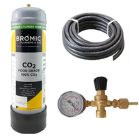 Food Grade Co2 Gas Bottle Regulator Kit - 1 Bottle Combo