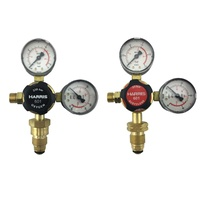 Harris 601 Oxygen & Acetylene Regulator Flow meter Twin Pack