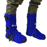 Weldclass Welders Spats - Leather Buckle Fastening