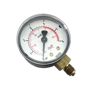 Harris 601 LPG / Co2 Low Pressure Gauge 0-6Bar - 8E6015