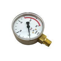 Harris 0-1600KPA Oxygen Gauge to suit 800 Series with 1/4NPT