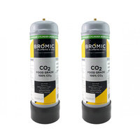 2 x Zip 91295 Sparkling Replacement Co2 Cylinder - Twin Pack
