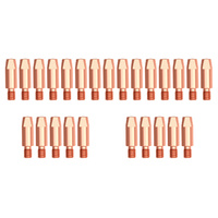 MIG Contact Tips - KEMPPI Style - 1.0 mm - M6 - 25 pack- Parweld LONG LIFE