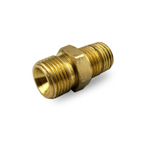 Flow Meter / Regulator Brass Tapered Fitting Argon  5/8 UNF