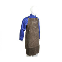 Leather Welding Apron - Split Cowhide - Welders Apron Size Large