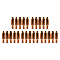 Binzel Style MIG Contact Tips - 0.9mm - 25 pack - M6 x 8mm x 0.9mm
