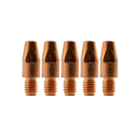 Binzel Style MIG Contact Tips - 0.9mm - 5 pack - M8 x 10mm x 0.9mm