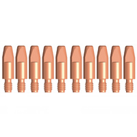 Binzel Style MIG Contact Tips - 2.4mm - 10 pack - M8 x 10mm x 2.4mm