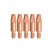 Binzel Style MIG Contact Tips - 2.4mm - 5 pack - M8 x 10mm x 2.4mm