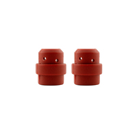 Binzel Style MIG Gas Diffuser - MB24 - Red Silicone - 2 Pack